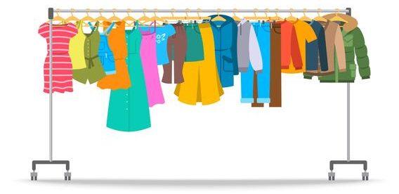 ラックに並ぶ洋服